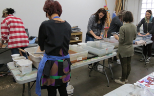 havingfun at papermaking workshop