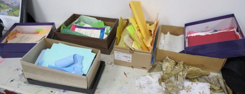 recycled paper papermaking workshop