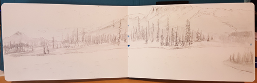 wabasso campground view sketch
