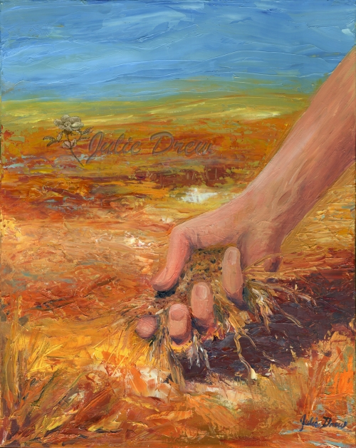 Dry Land Dry Hearts, oil painting, Living Water Series