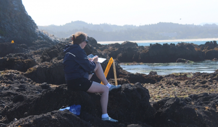 Sketching en plein air on the Oregon Coast