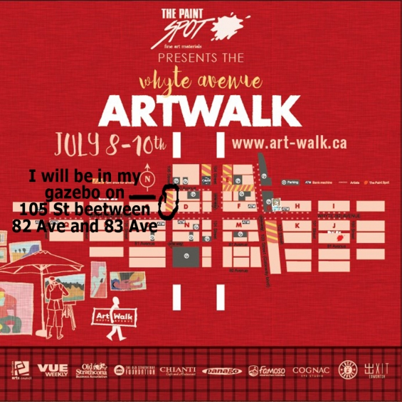 My Art Walk location on 105 St between 82 Ave and 83Ave