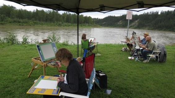 Plein Air Class in Action
