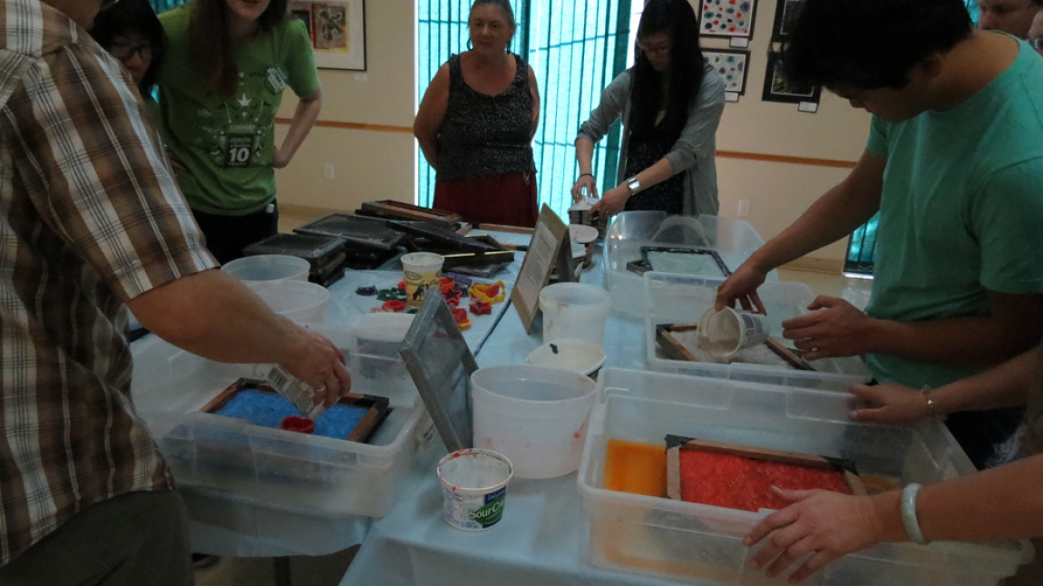 Papermaking Workshop at Kaleido Arts Festival, Sept 2015
