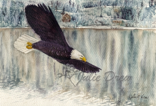 On Eagle's Wings, Watercolor