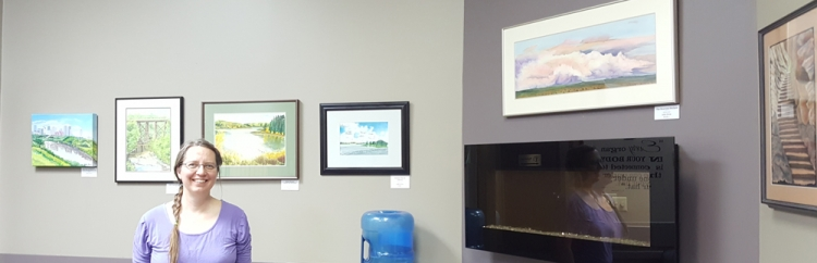 Alberta Landscapes Art Show at Whyte Avenue Chiropractic & Wellness Centre.