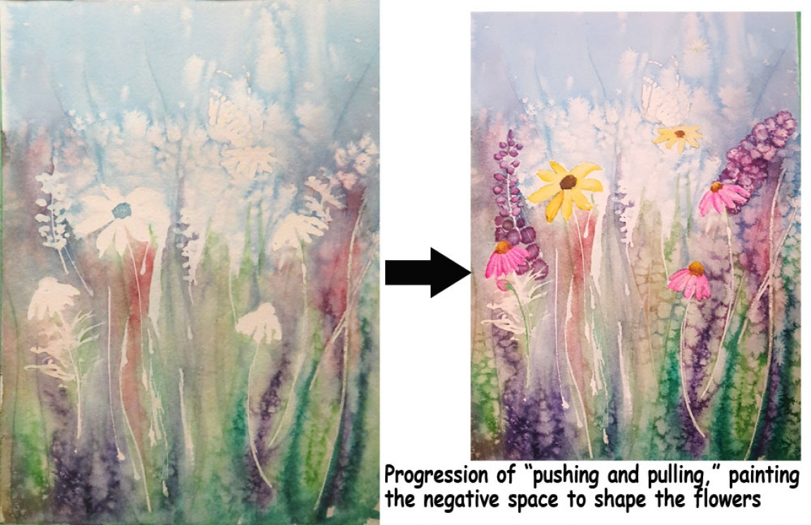 Progession of a painting