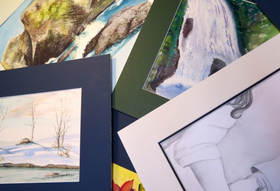 Matting and Framing at SheDrewIt Design