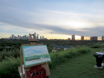 Plein Air session, near Mcnally Highschool